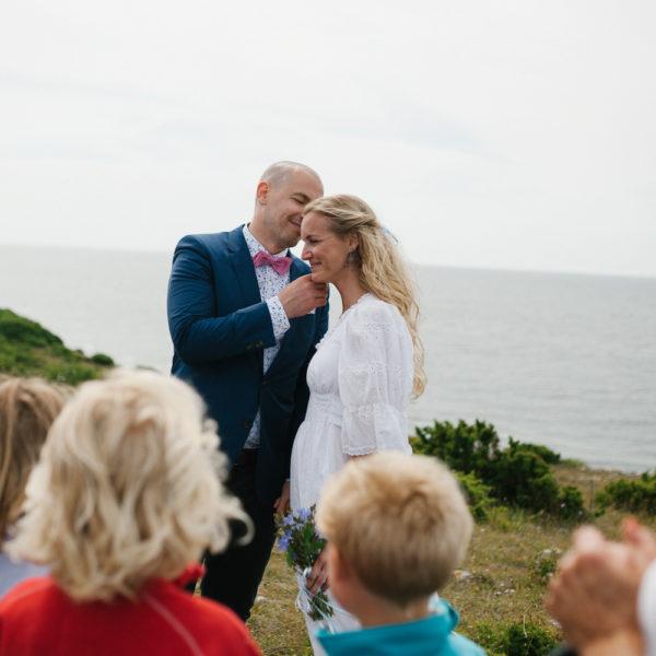 Bröllopsfotograf Gotland - Sofia och Jimmy